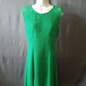 London Times Spring Green Dress 12P